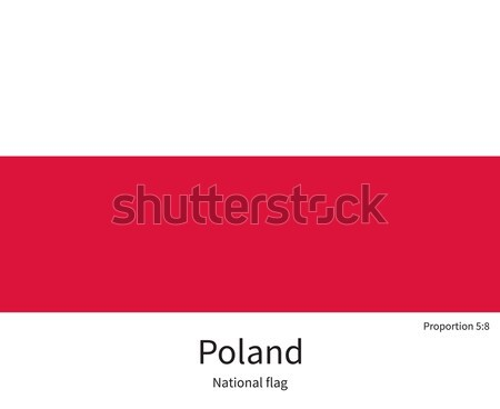 National flag of Poland with correct proportions, element, colors Stock photo © tkacchuk