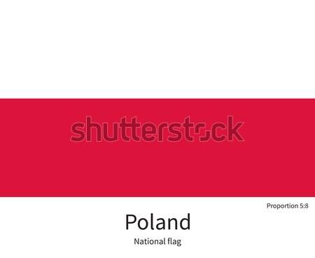 флаг Польша исправить элемент цветами образование Сток-фото © tkacchuk