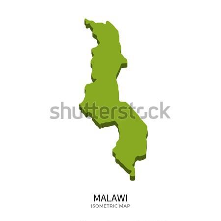 Isometric map of Malawi detailed vector illustration Stock photo © tkacchuk