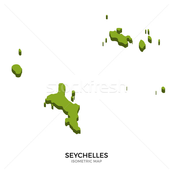 Isometric map of Seychelles detailed vector illustration Stock photo © tkacchuk