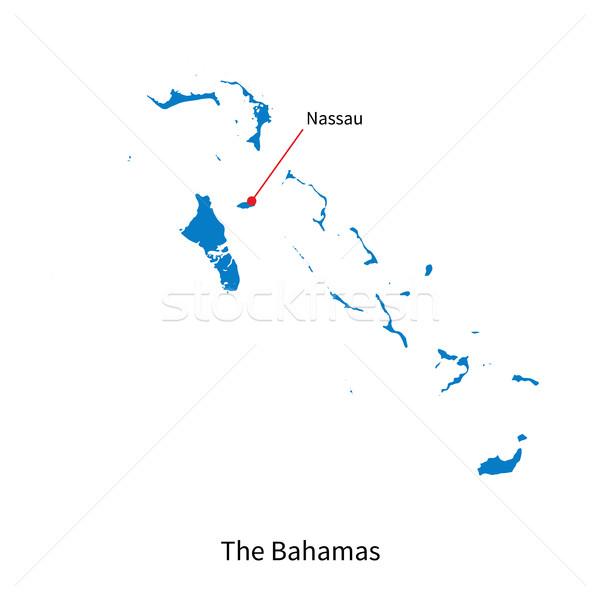 подробный вектора карта Багамские острова город образование Сток-фото © tkacchuk