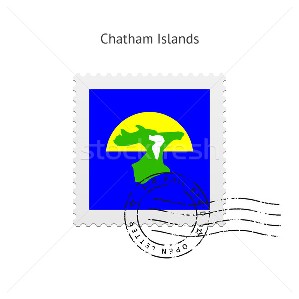 Chatham Islands Flag Postage Stamp. Stock photo © tkacchuk