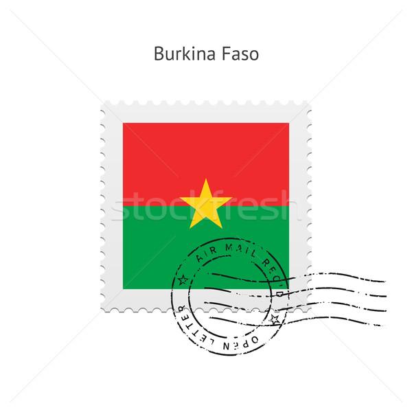 Burkina pavillon blanche signe lettre Photo stock © tkacchuk