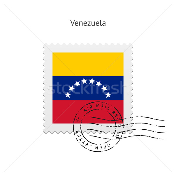 Venezuela Flag Postage Stamp. Stock photo © tkacchuk