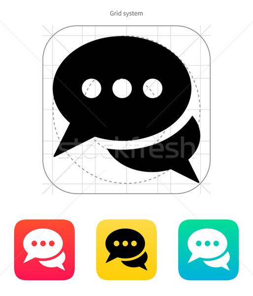Diálogo icono blanco resumen marco signo Foto stock © tkacchuk
