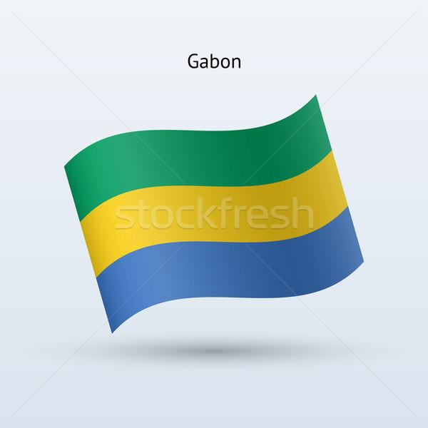 Габон флаг форме серый знак Сток-фото © tkacchuk