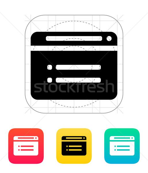 Web browser icon computer internet ontwerp Stockfoto © tkacchuk