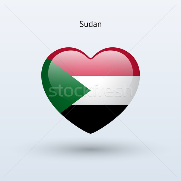 Liefde Soedan symbool hart vlag icon Stockfoto © tkacchuk