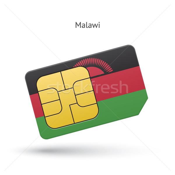 Малави мобильного телефона карт флаг бизнеса дизайна Сток-фото © tkacchuk