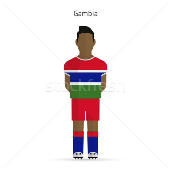 Gambia voetballer voetbal uniform abstract fitness Stockfoto © tkacchuk