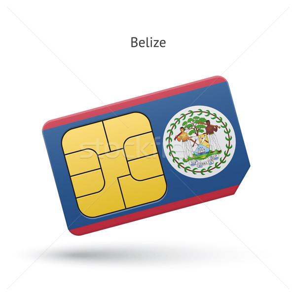 Belize mobiltelefon kártya zászló üzlet terv Stock fotó © tkacchuk