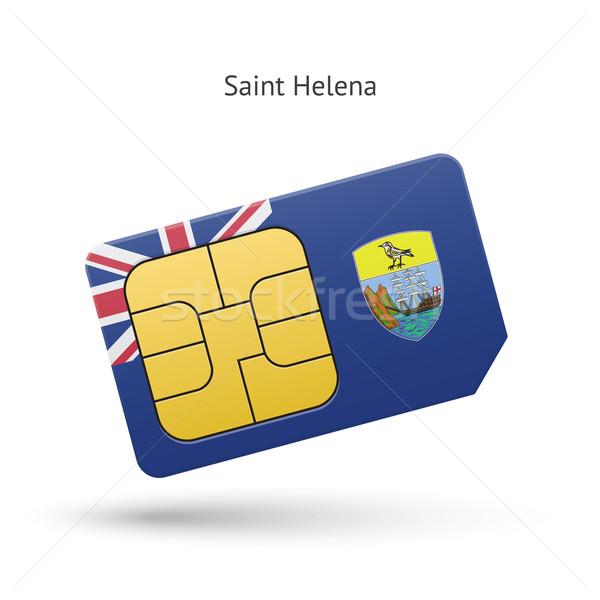 Saint Helena mobile phone sim card with flag. Stock photo © tkacchuk