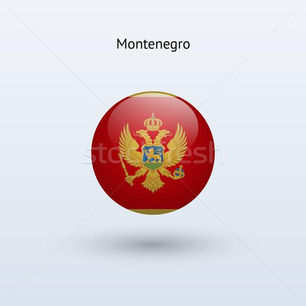 Черногория флаг серый знак веб путешествия Сток-фото © tkacchuk