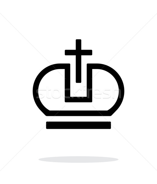 корона папа икона белый дизайна власти Сток-фото © tkacchuk