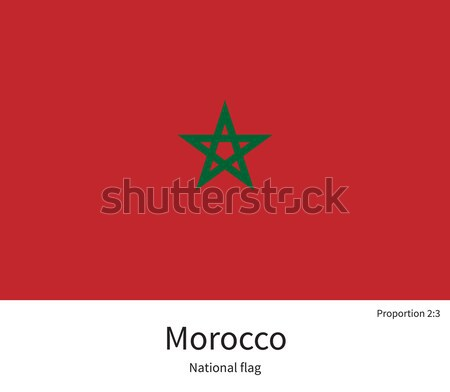 National flag of Morocco with correct proportions, element, colors Stock photo © tkacchuk