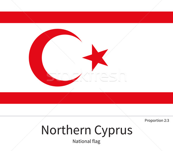 National flag of Northern Cyprus with correct proportions, element, colors Stock photo © tkacchuk