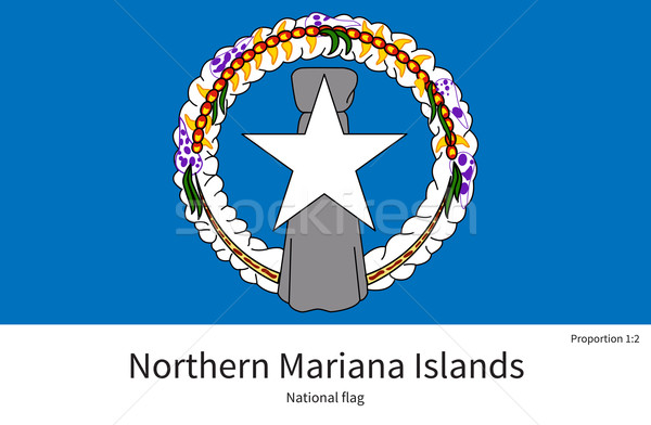 National flag of Northern Mariana Islands with correct proportions, element, colors Stock photo © tkacchuk