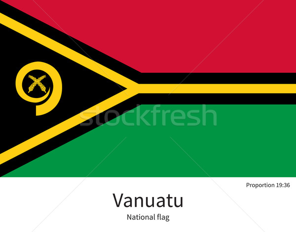 National flag of Vanuatu with correct proportions, element, colors Stock photo © tkacchuk