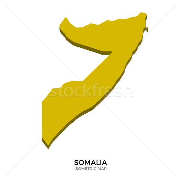 Izometryczny Pokaż Somali szczegółowy odizolowany 3D Zdjęcia stock © tkacchuk