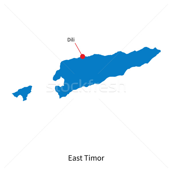 Detailed vector map of East Timor and capital city Dili Stock photo © tkacchuk