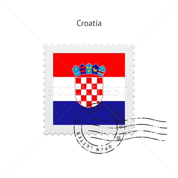 Croatia Flag Postage Stamp. Stock photo © tkacchuk