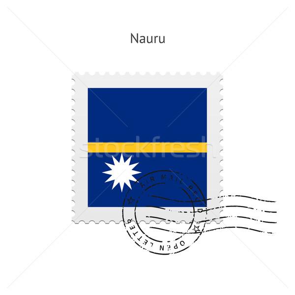 Nauru zászló postabélyeg fehér felirat levél Stock fotó © tkacchuk