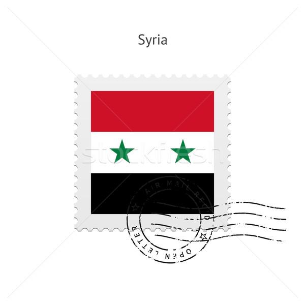 Síria bandeira branco assinar carta Foto stock © tkacchuk