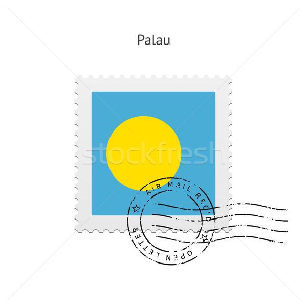 Palau Flag Postage Stamp. Stock photo © tkacchuk