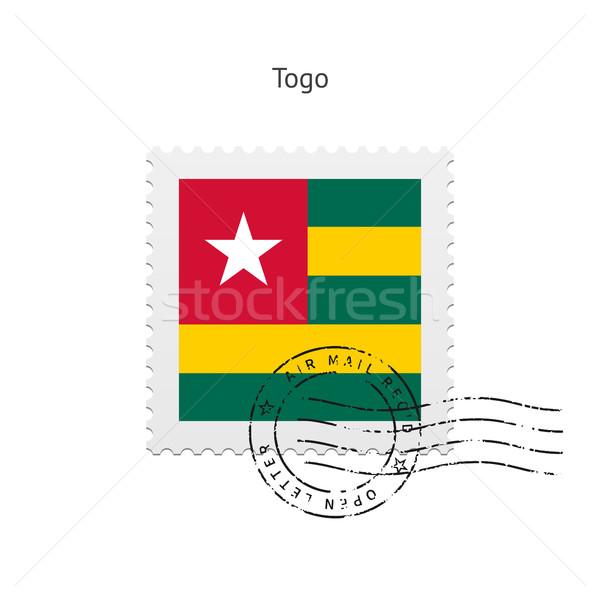 Того флаг почтовая марка белый знак письме Сток-фото © tkacchuk