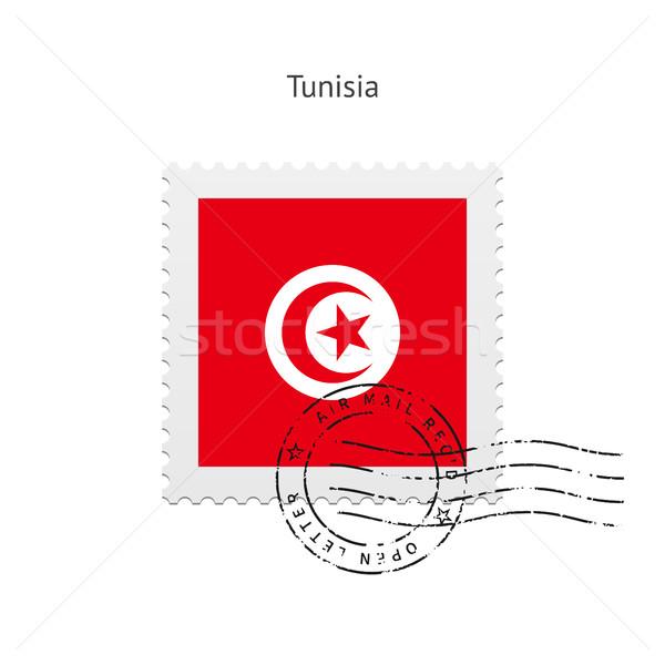 Tunus bayrak beyaz imzalamak mektup Stok fotoğraf © tkacchuk