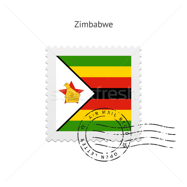 Zimbabwe Flag Postage Stamp. Stock photo © tkacchuk