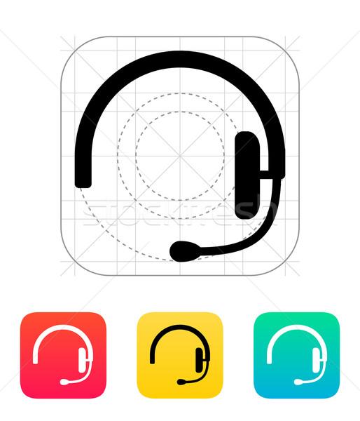 гарнитура икона служба микрофона знак корпоративного Сток-фото © tkacchuk