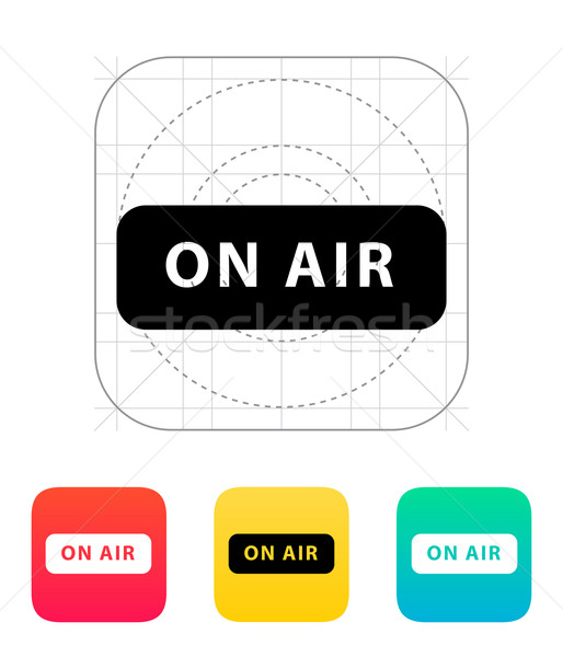 Aire radiodifusión icono fondo red web Foto stock © tkacchuk