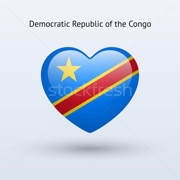 Amor democrático república Congo símbolo corazón Foto stock © tkacchuk