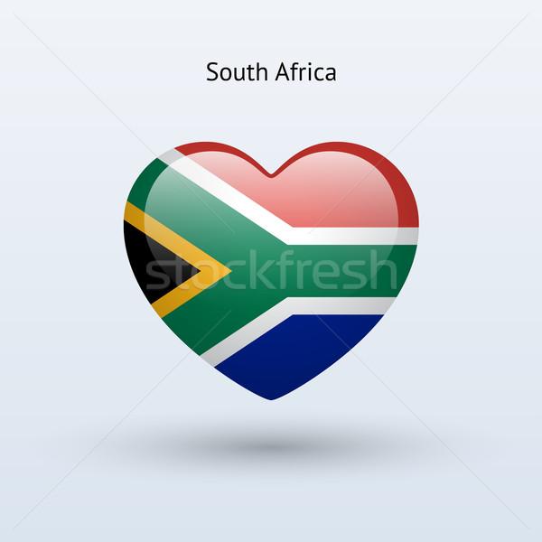 Sevmek Güney Afrika simge kalp bayrak ikon Stok fotoğraf © tkacchuk
