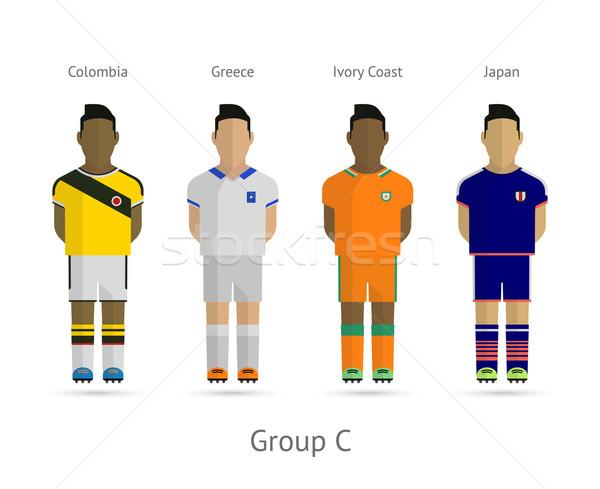 Piłka nożna zespoły grupy Kolumbia Grecja Wybrzeże Kości Słoniowej Zdjęcia stock © tkacchuk