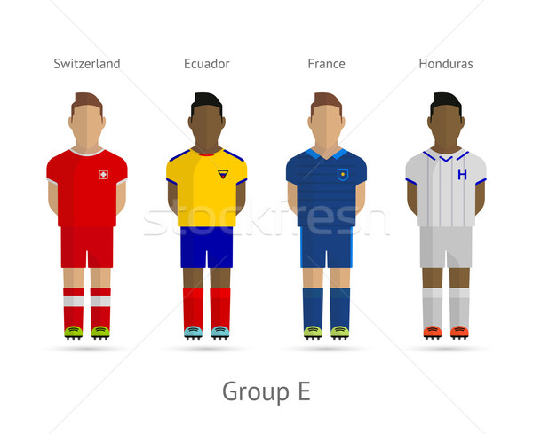 футбола Команды группа Швейцария Эквадор Франция Сток-фото © tkacchuk