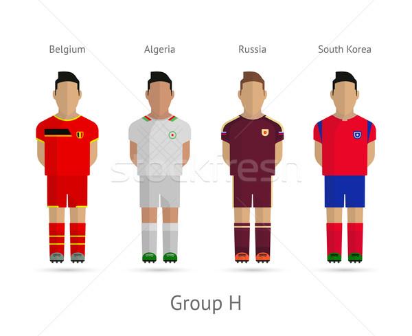 a3e99af88 Group H - Belgium, Algeria, Russia, South Korea by tkacchuk Stock photo