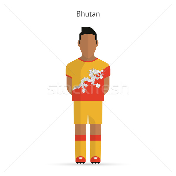 Butão futebol uniforme abstrato fitness Foto stock © tkacchuk