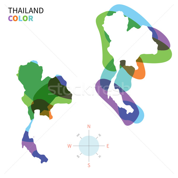 Abstract vector kleur kaart Thailand transparant Stockfoto © tkacchuk