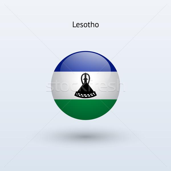 Lesotho pavillon gris signe web Voyage Photo stock © tkacchuk