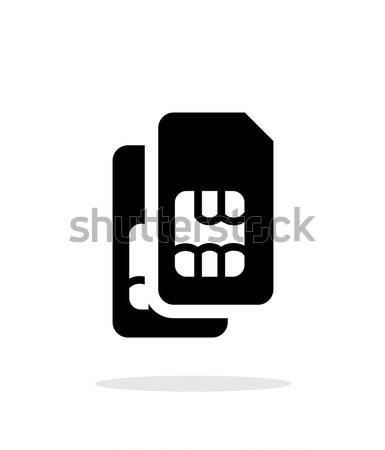 Dual SIM cards icon. Stock photo © tkacchuk
