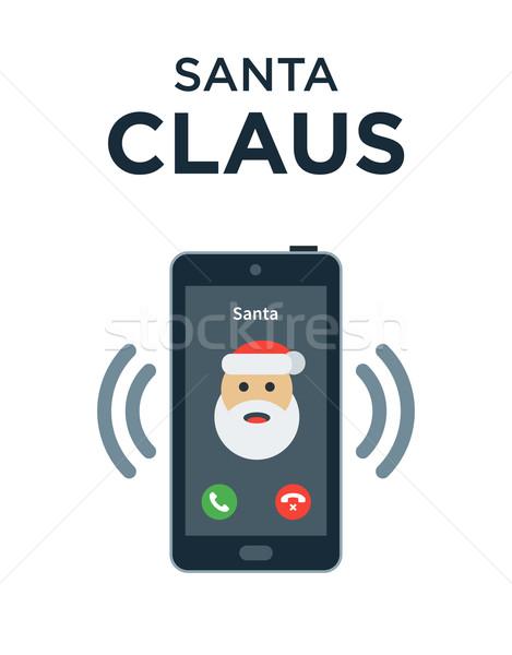 Marry Christmas phone call from Santa Claus Stock photo © tkacchuk
