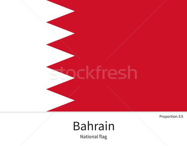 Bandiera Bahrain correggere elemento colori istruzione Foto d'archivio © tkacchuk