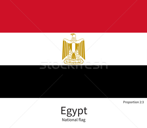 National flag of Egypt with correct proportions, element, colors Stock photo © tkacchuk