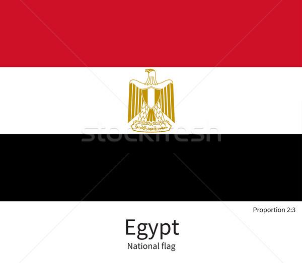 Bandiera Egitto correggere elemento colori istruzione Foto d'archivio © tkacchuk