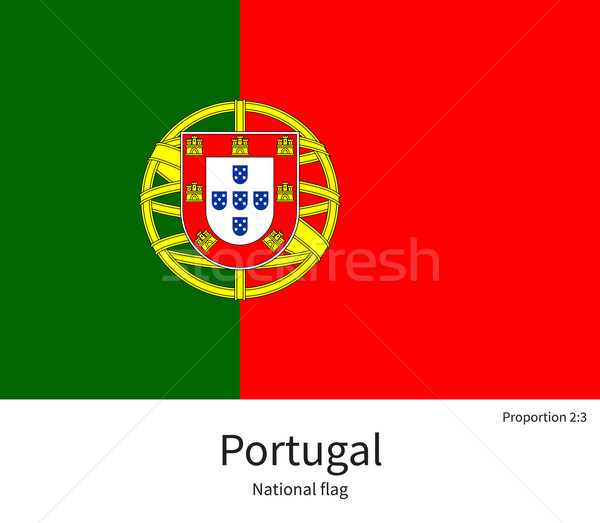 National flag of Portugal with correct proportions, element, colors Stock photo © tkacchuk
