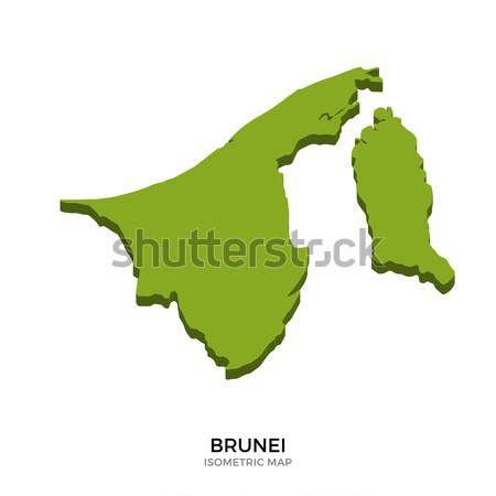 Isometric map of Brunei detailed vector illustration Stock photo © tkacchuk