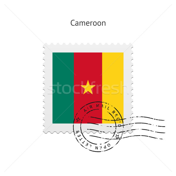 Cameroon Flag Postage Stamp. Stock photo © tkacchuk