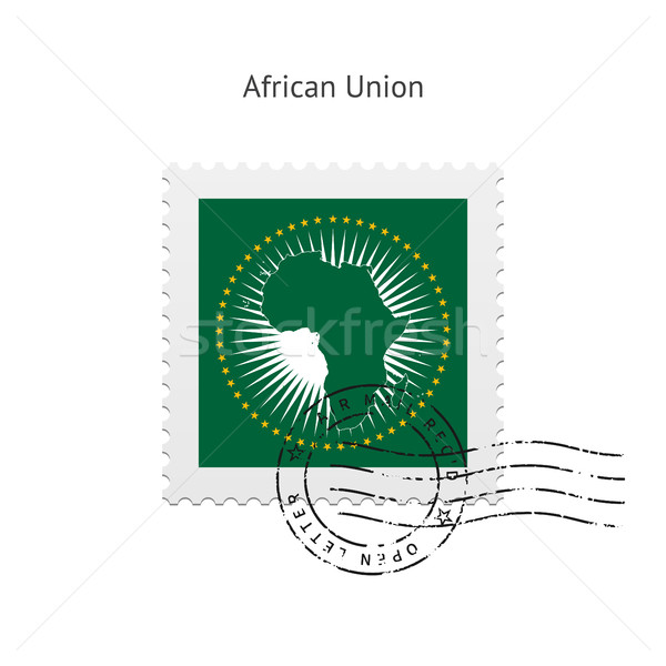 African Union Flag Postage Stamp. Stock photo © tkacchuk